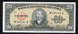 Banconota  Cuba 20 Pesos 1960 - Cuba