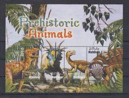 K62. MNH Maldives Nature Animals Prehistoric Animals Dinosaurs - Prehistorics
