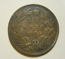 Portugal XX Reis 1884 D. Luiz I - Portugal