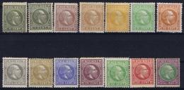 Netherlands East Indies : NVPH Nr 3 - 16  MH/* Flz/ Charniere  1870 - 1888, ,5 Cent Has Part Gum - Niederländisch-Indien