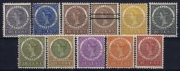 Netherlands East Indies : NVPH Nr 48 - 57  MH/* Flz/ Charniere 20 Ct Has A Thin Spot 1903-1908 Veth - Niederländisch-Indien