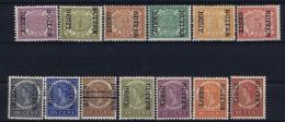 Netherlands East Indies : NVPH Nr 81f -96f  Without 93f  MH/* Flz/ Charniere Surcharge Reversed  Buiten Bezit - Niederländisch-Indien