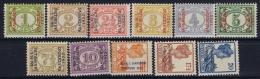 Netherlands East Indies : NVPH Nr 149 - 159  MH/* Flz/ Charniere 1922 Jaarbeurs Bandoeng Exhibition 1922 - Niederländisch-Indien