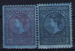 Netherlands East Indies : NVPH Nr 60 + 61  MH/* Flz/ Charniere 1906- 1912 - Niederländisch-Indien