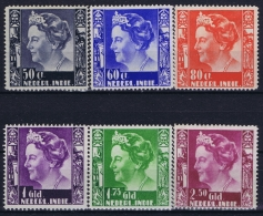 Netherlands East Indies : NVPH Nr 205 - 210 MH/* Flz/ Charniere 1934 - Niederländisch-Indien