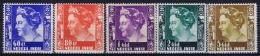 Netherlands East Indies : NVPH Nr 261 - 265 MH/* Flz/ Charniere 1938 - 1939  5G Has A Light Gum Fold Right Bottom Corner - Niederländisch-Indien
