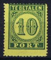 Netherlands East Indies : NVPH Nr P2  MH/* Flz/ Charniere  1874  Postage Due Port - Niederländisch-Indien