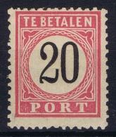 Netherlands East Indies : NVPH Nr P9  Perfo 12.50 * 12  MH/* Flz/ Charniere  1882  Postage Due Port Type 1 - Niederländisch-Indien