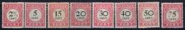 Netherlands East Indies : NVPH Nr P14 - P22 Min P6 MH/* Flz/ Charniere  192 - 1909  Postage Due Port - Niederländisch-Indien