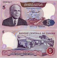 TUNISIA       5 Dinars       P-79       3.11.1983      UNC - Tunisia