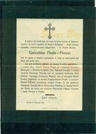 AVERSA- NOBILDONNA CONCETTINA PIROLO - PIROZZI -1913- AFFRANCATA COL 2 CENT. - Avvisi Di Necrologio