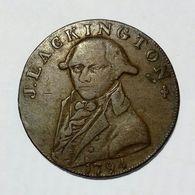 MIDDLESEX - J. LACKINGTON - HALF Penny Token ( 1794 ) Booksellers / Copper - Monetari/ Di Necessità