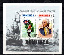 PC605 - DOMINICA , Il Foglietto Usato N. 35 Bicentennial - Dominica (1978-...)