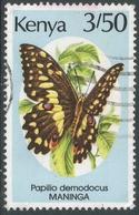 Kenya. 1988 Butterflies. 3/50 Used. SG 444 - Kenya (1963-...)