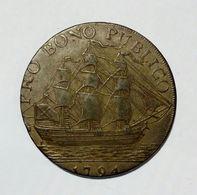 HULL - HALF Penny Token ( 1791 / 1794 ) / Copper - Monetari/ Di Necessità