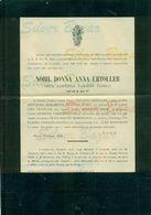 ROMA- NOBIL DONNA ANNA URTOLLER NATA CONTESSA PASOLINI ZANELLI- 1904 -  AFFRANCATA COL 2 CENT. - Avvisi Di Necrologio