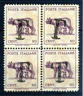LUOGOTENENZA LUPA TASSATA (*) QUARTINA - 5. 1944-46 Lieutenance & Umberto II