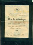 BEDIZZOLE-1900-NOBILE CAVALIERE DOTT. ANNIBALE BROGNOLI-  AFFRANCATA COL 2 CENT. - Avvisi Di Necrologio
