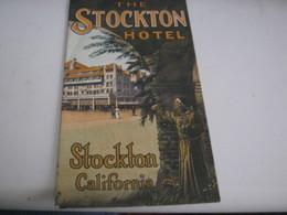 DEPLIANT THE STOCKTON HOTEL - Tourism Brochures