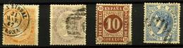 2085- España Nº 89, 92, 94 Y 97 - 1850-68 Royaume: Isabelle II