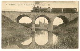 Le Pont Du Chemin De Fer Et La Cathédrale - Bayeux