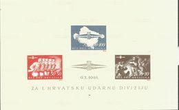 HR 1944-Bl. 8U STURM DIVISION, HRVATSKA CROATIA, S/S, FORGERY FALSCHUNG - Kroatien
