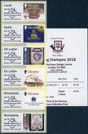 GIBRALTAR (2018). ATM Post & Go - Masonry / Freemasonry / Masonería / Franc-maçonnerie / Masonic / Mason / Lodge - SET - Gibraltar