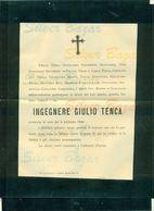 MILANO-GATTINARA-ING. GIULIO TENCA - 1899 - + BUSTA AFFRANCATA COL 2 CENT. - Avvisi Di Necrologio