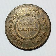 BIRMINGHAM & SWANSEA - ROSE COPPER COMPANY - HALF Penny Token ( 1811 ) / Copper - Monetari/ Di Necessità