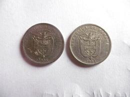 (A126)-PANAMA-LOT DE 2 PIECES DE 10DECIMO 2001 ET-2008 - Panama