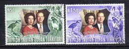 R801 - INDIAN OCEAN TERRITORY / OCEANO INDIANO 1972, Serie 48/49  Usata . Nozze D'argento - Territorio Britannico Dell'Oceano Indiano
