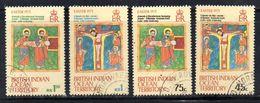 R787 - INDIAN OCEAN TERRITORY / OCEANO INDIANO 1973, Serie 50/53  Usata . Pasqua - British Indian Ocean Territory (BIOT)