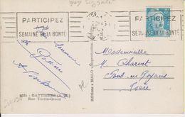 1949 France 06 Alpes Maritimes Nice Carte Postale Flamme 'Semaine De La Bonte' - Postmark Collection (Covers)