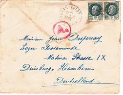 COURRIER Lettre ALLEMAGNE Duisburg 30-03-1944 PETAIN 3° Reich WW2 - Duperray Oblitération Allonnes (49) Cachet Ae - Allemagne