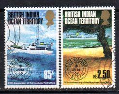 R795 - INDIAN OCEAN TERRITORY / OCEANO INDIANO 1974, Serie 57/58  Usata . Nordvaer - British Indian Ocean Territory (BIOT)
