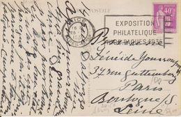 1935 France 06 Alpes Maritimes Nice Carte Postale Flamme 'Expo Philatelique Pasque 1935' - Postmark Collection (Covers)