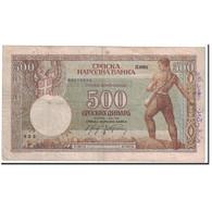 Billet, Serbie, 500 Dinara, 1942, 1942-05-01, KM:31, TB - Serbia