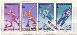 1979 Olympic G.-Lake Placid 4v.- Used/oblit.(O) BULGARIE / Bulgaria - Gebraucht