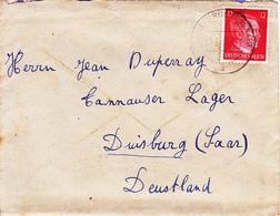 COURRIER Lettre ALLEMAGNE Duisburg 14-09-1943 HITLER 3° Reich WW2 - Duperray Schafbrücke SAAR Sarre (Saarbrücken) - Germany