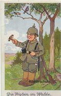 "AK Künstlerkarte, (Propagandakarte), ""Die Vögelein Im Walde"" 1917 - Guerre 1914-18"