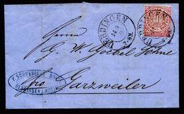 A5155) NDP Brief Uerdingen 14.9.71 Garzweiler Nachverw. Pr.-K2 - Norddeutscher Postbezirk