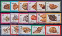 BELIZE - 455/471  SERIE COQUILLAGES COMPLETE N** MNH LUXE COTE 80 EUR - Belize (1973-...)