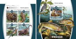 SOLOMON ISLANDS 2017 MNH** Extinct Animals Ausgestorbene Tiere Animaux Eteints M/S+S/S - OFFICIAL ISSUE - DH1805 - Briefmarken