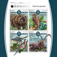 SOLOMON ISLANDS 2017 MNH** Extinct Animals Ausgestorbene Tiere Animaux Eteints M/S - OFFICIAL ISSUE - DH1805 - Stamps