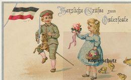 AK Künstlerkarte, (Propagandakarte), Grüße Zum Osterfeste 1916 - Guerre 1914-18