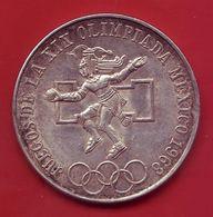 - MEXIQUE - 25 Pesos - 1968 - Argent - Jeux Olympiques De Mexico - - Mexico