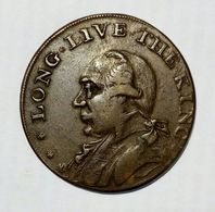 LONDON - HALF Penny Token ( 1795 ) LONG LIVE The KING / Copper - Monetari/ Di Necessità