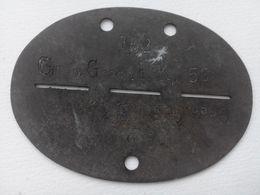 Plaque D'identité Allemande Erkennungsmarke WW2 German ID / Dog Tag 3 - 1939-45