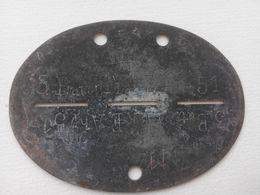 Plaque D'identité Allemande Erkennungsmarke WW2 German ID / Dog Tag 7 - 1939-45