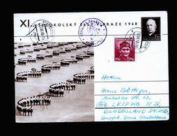 A5160) CSSR Czechoslovakia Bildkarte Prag 13.7.48 N. Germany Zensur - Covers & Documents
